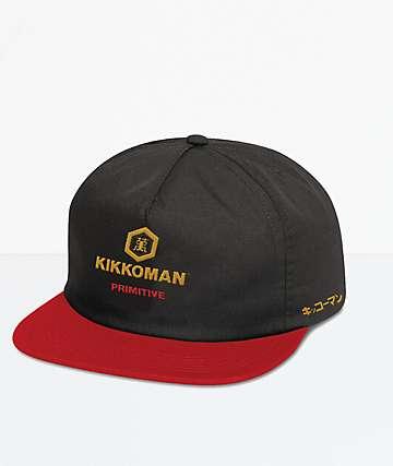 Primitive x Kikkoman Black & Red Snapback Hat