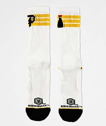 Primitive x Kikkoman Ringer White Crew Socks