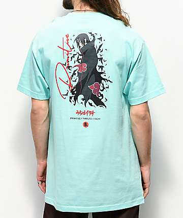Primitive x Naruto Crows Mint Blue T-Shirt