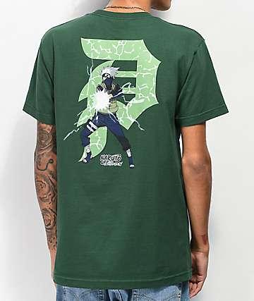 Primitive x Naruto Dirty P Kakashi Forest Green T-Shirt