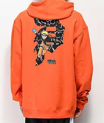 Primitive x Naruto Dirty P Orange Hoodie