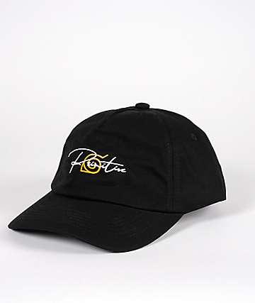 Primitive x Naruto Leaf Village Black Strapback Hat