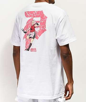 Primitive x Naruto Sakura White T-Shirt