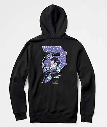 Primitive x Naruto Sasuke Dirty P Black Hoodie