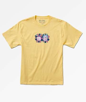Primitive x Rick & Morty Dirty P Yellow T-Shirt