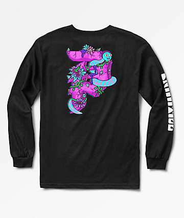 Primitive x Rick And Morty Dirty P Black Long Sleeve T-Shirt