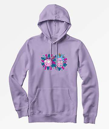 Primitive x Rick And Morty Dirty P Violet Hoodie