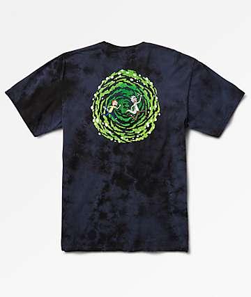 Primitive x Rick And Morty Portal Navy Crystal Wash T-Shirt