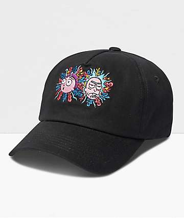 Primitive x Rick And Morty R&M Black Strapback Hat