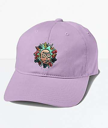 Primitive x Rick And Morty Rick Purple Strapback Hat