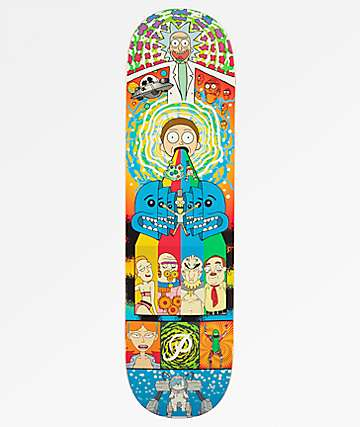 "Primitive x Rick and Morty Collage 8.0"" Skateboard Deck"