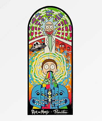 Primitive x Rick and Morty Collage pegatina