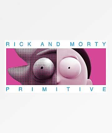 Primitive x Rick and Morty Cranium pegatina