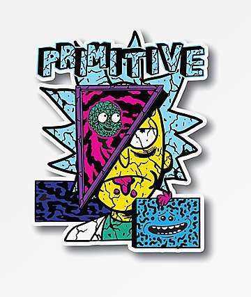 Primitive x Rick and Morty Destructed Sticker