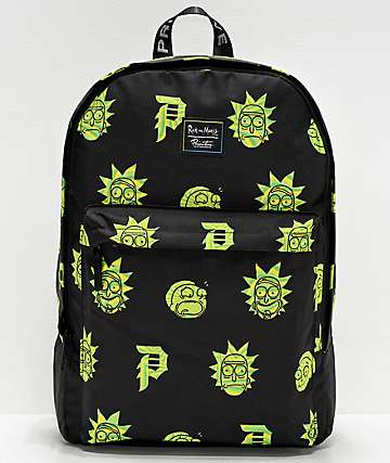 Primitive x Rick and Morty Dirty P Black Backpack