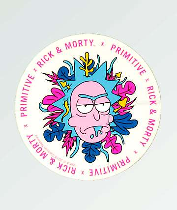 Primitive x Rick and Morty Floral Rick pegatina