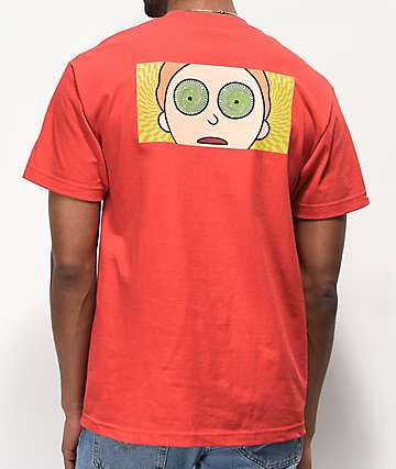 Primitive x Rick and Morty Hypno Morty Red T-Shirt