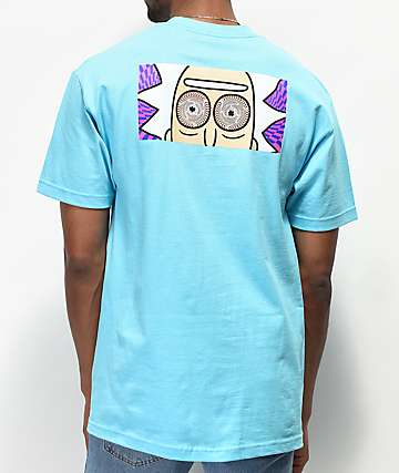 Primitive x Rick and Morty Hypno Rick Blue T-Shirt