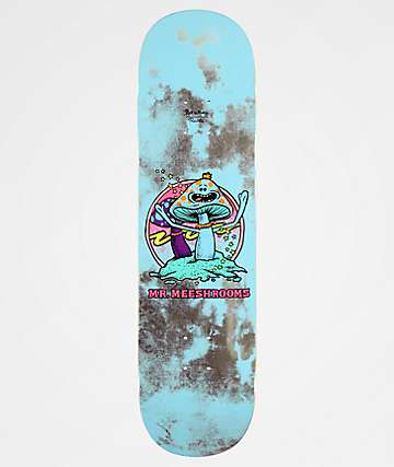 "Primitive x Rick and Morty Mr. Meeshrooms 8.25"" tabla de skate"