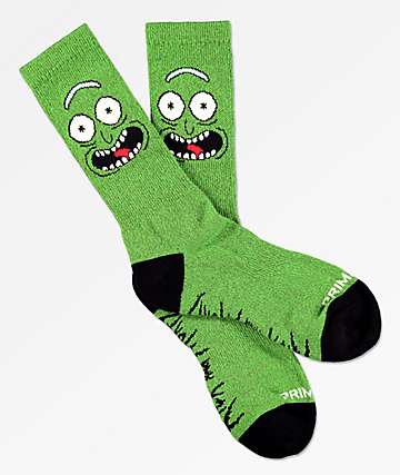 Primitive x Rick and Morty Pickle Rick Crew Socks