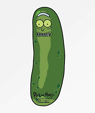 Primitive x Rick and Morty Pickle Rick Sticker