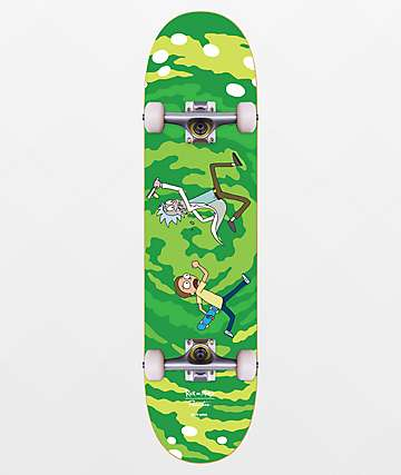 "Primitive x Rick and Morty Portal 8.25"" Skateboard Complete"