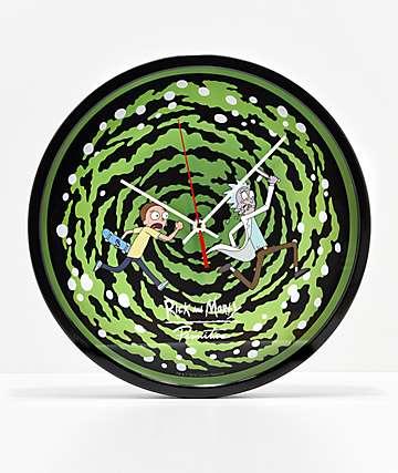 Primitive x Rick and Morty Portal reloj de pared