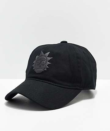 Primitive x Rick and Morty Rick Puff Black Strapback Hat