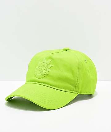 Primitive x Rick and Morty Rick Puff Green Strapback Hat