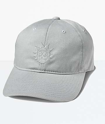 Primitive x Rick and Morty Rick Puff Grey Strapback Hat