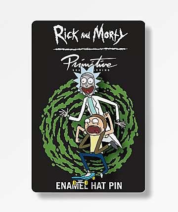 Primitive x Rick and Morty Skate Enamel Pin