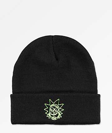 ed21a39193b Primitive x Rick and Morty Vortex Rick Black Beanie
