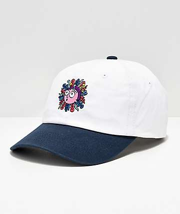6e29e13dfdd76 Primitive x Rick and Morty White   Black Strapback Hat