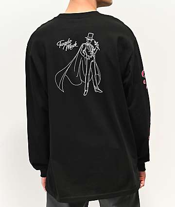 Primitive x Sailor Moon Tuxedo Mask Black Long Sleeve T-Shirt