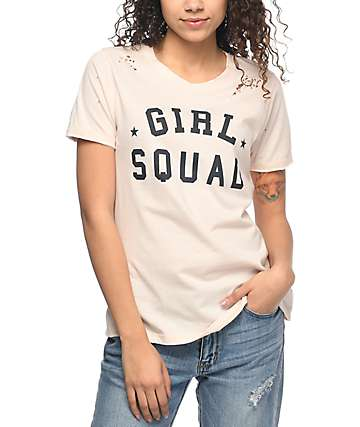 Prince Peter Collection Girl Squad camiseta rota color melocotón