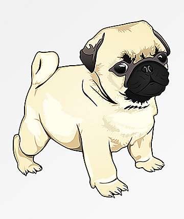 Pro & Hop Pug Pup Sticker