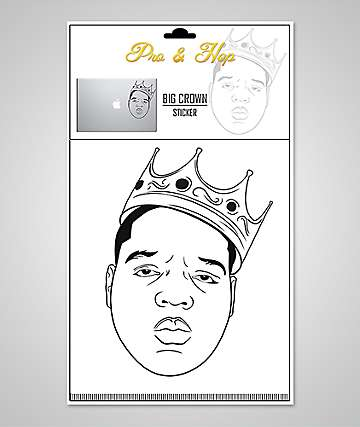 Pro & Hop Rapper Crown Clear Laptop Sticker