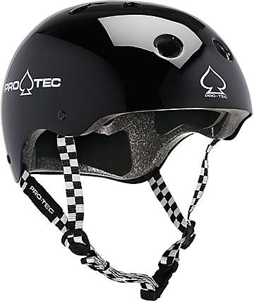 Pro-Tec Classic Black & Checkered Skate Helmet
