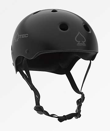 Pro-Tec Classic Matte Black & Grey Skate Helmet