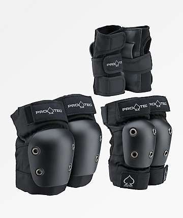 Pro-Tec Youth Street Gear 3 Pack Black Protective Pads
