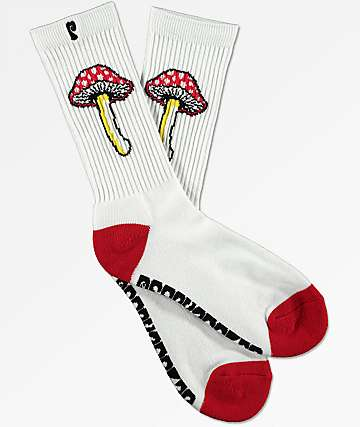Psockadelic Fungi II Glow In The Dark Crew Socks