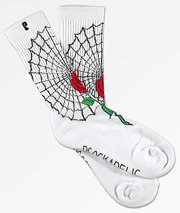 Psockadelic McCormick White & Red Crew Socks