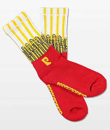 Psockadelic McDowell's Scented Red & Yellow Crew Socks