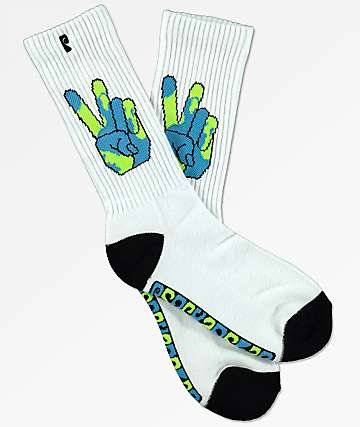 Psockadelic Peace World Crew Socks