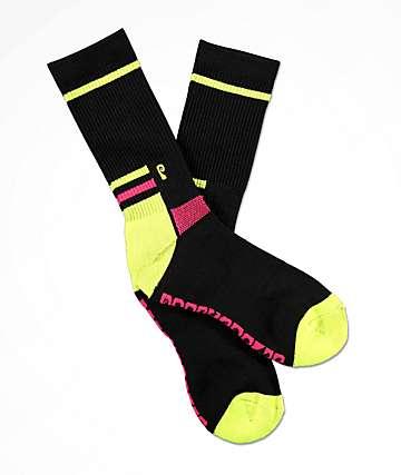 Psockadelic Slalom Black Crew Socks
