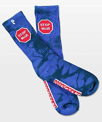 Psockadelic Stop War Scented Crew Socks