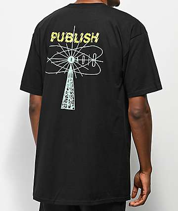 Publish Shock Radio Black T-Shirt
