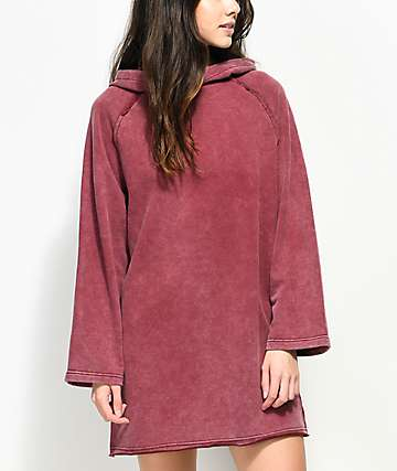 Publish Valerie Oversized Burgundy Hoodie