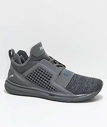 Puma Ignite Limitless Knit Grey Shade Shoes