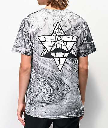 Pyramid Country Channel 95 Black Marble Dyed T-Shirt